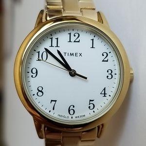 Timex Indiglo WR 30M Wrist Watch Gold Tone